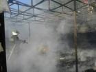 На Троєщині горів ринок «Фермер»