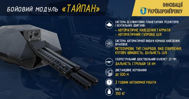 Новий бойовий модуль «Тайпан» представила Україна в Азербайджані - фото