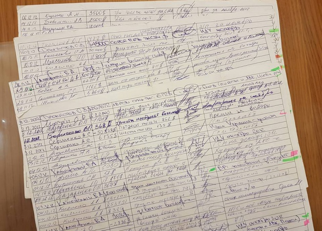 Виявлено ще кілька листів «чорної бухгалтерії Партії Регіонів» - фото