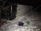 Під м. Дніпро автобус з дітьми на смерть збив жінку і перекинувся