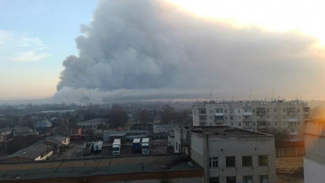 На Харківщині стався вибух на складі боєприпасів, евакуйовують населення - фото
