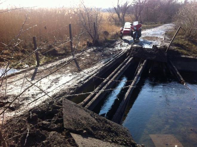 На Луганщині диверсанти підірвали міст - фото