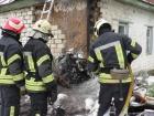 У Чернігові літак впав на житловий будинок