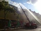 На Хрещатику палає будинок, що перебував на реставрації