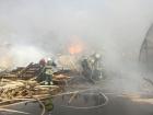У Броварах на складах виникла масштабна пожежа