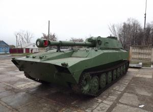 На Миколаївщині загорілася САУ з екіпажом - фото