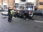 У центрі Києва вибухнув автомобіль, є загиблий, фото