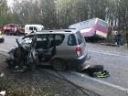 На Львівщині сталося лобове зіткнення автобуса з легковиком, 7 травмованих