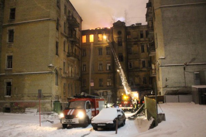 У центрі Києва горів черговий будинок-пам′ятка - фото