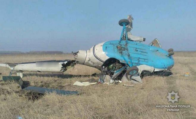 На Полтавщині впав гелікоптер Мі-2 - фото