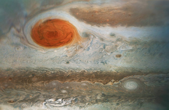 NASA показало зблизька Велику червону пляму на Юпітері - фото
