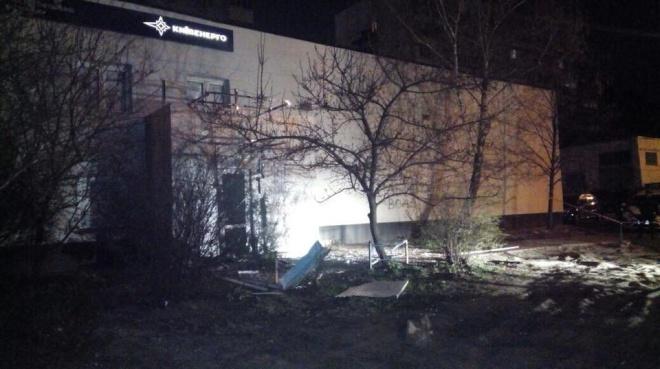 Вночі стався вибух біля будівлі «Київенерго» - фото