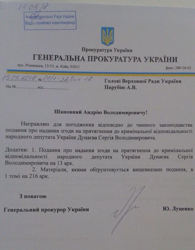 """Розпочато процедуру зняття недоторканності з """"опоблоківця"""" Дунаєва - фото"""