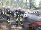 У Києві на штрафмайданчику згоріло 54 автомобіля
