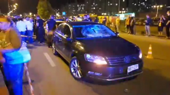 На Позняках поліцейське авто збило дитину - фото
