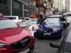 В Києві автокран зім'яв штук 15 авто
