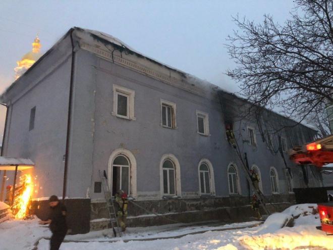 В Києво-Печерській лаврі горів монастир - фото