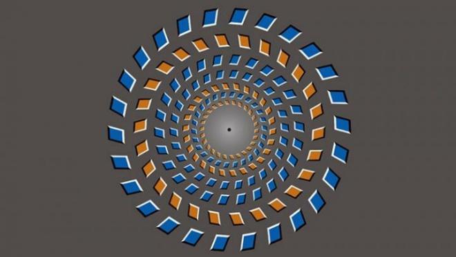 Чому мозок змушує оптичну ілюзію рухатися? - фото