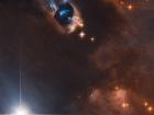 Хаббл показав «паруючий ствол» новонародженої зірки