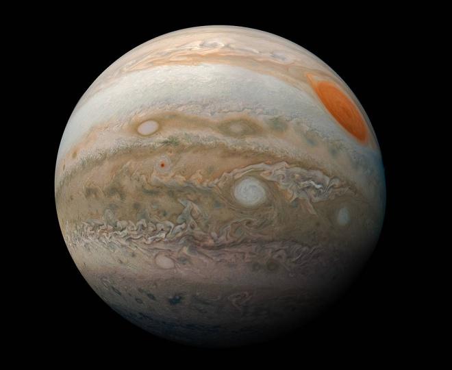 """Захоплюючі """"мармурові"""" шторми на Юпітері - фото"""