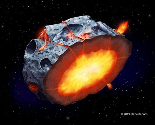 На металевих астероїдах можливо вивергалися залізні вулкани - фото