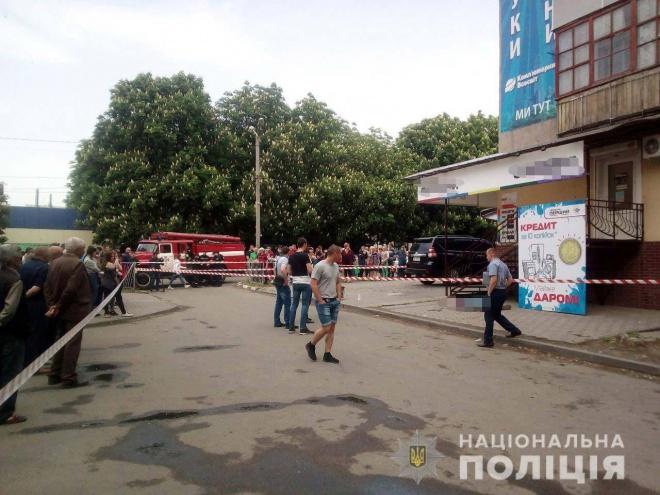 В Марганці підірвали гранату в людному місці - фото