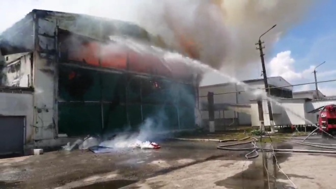 Під Києвом виникла масштабна пожежа на птахофабриці «Ясенсвіт» - фото