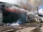 Під Києвом виникла масштабна пожежа на птахофабриці «Ясенсвіт»