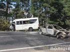 ДТП із загорянням за участю маршрутки сталася під Житомиром (відео)