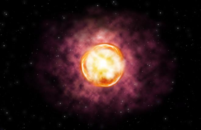 Повна анігіляція незвичної надмасивної зірки - фото