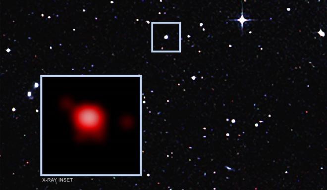 Астрономи виявили ненажерливу чорну діру - фото