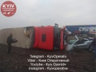 Під Борисполем сталася жахлива аварія за участі вантажівки та легковика
