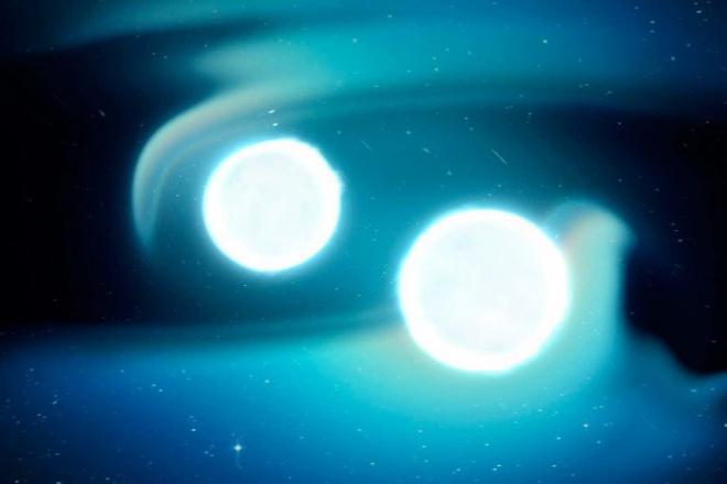 Астрономи вперше виявили джерело гравітаційних хвиль від бінарної системи білих карликів - фото