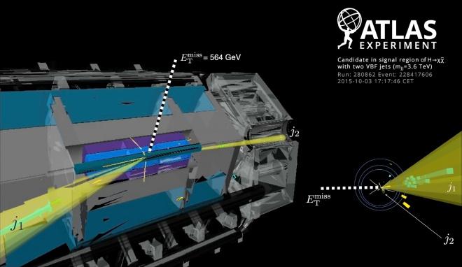 ATLAS зондує темну матерію за допомогою бозона Хіггса - фото