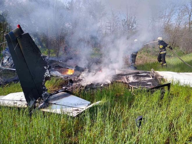 Під Дніпром розбився літак, загинули двоє - фото
