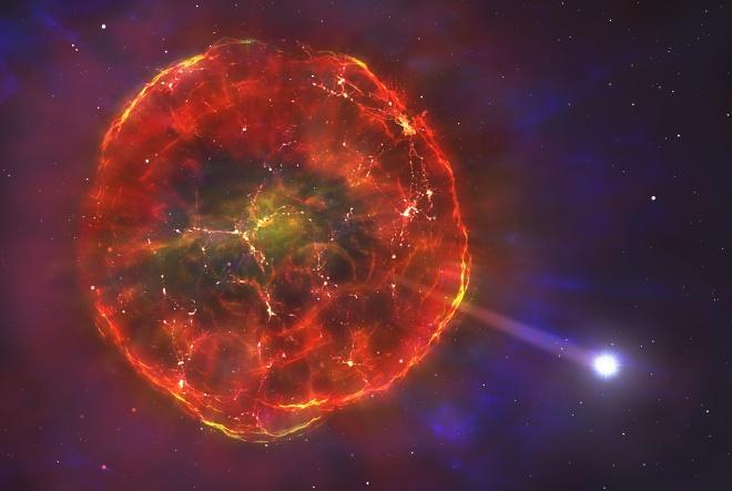 Вибух жбурнув зірку крізь Чумацький Шлях - фото