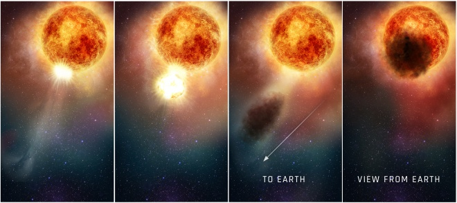 Таємниче затемнення Бетельгейзе було викликано травматичним сплеском, встановив Хаббл - фото