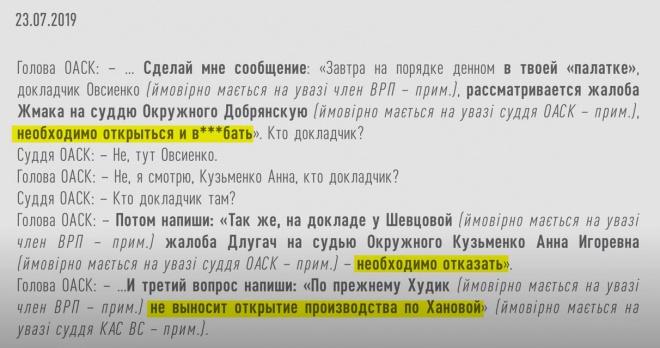 НАБУ: голова ОАСК Вовк має вплив на окремих членів Вищої ради правосуддя - фото