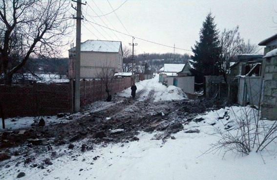 последствия обстрела жилого сектора Авдеевки на фото 3