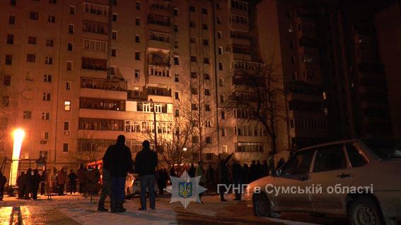 взрыв в многоэтажке в Сумах по ул. Металлургов, фото 1