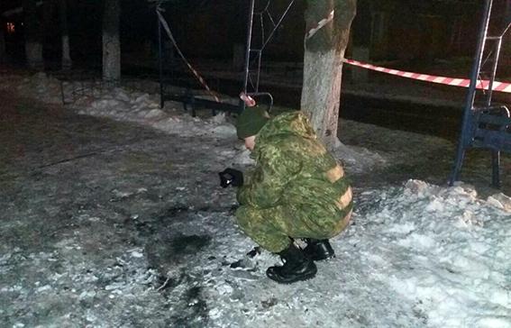 взрыв в Славянске во время факельного шествия