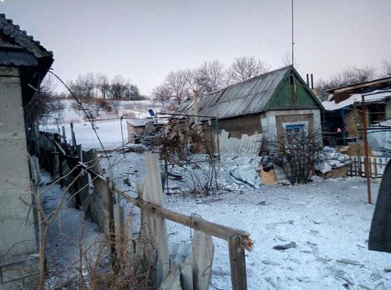 последствия обстрела жилого сектора Авдеевки на фото 2