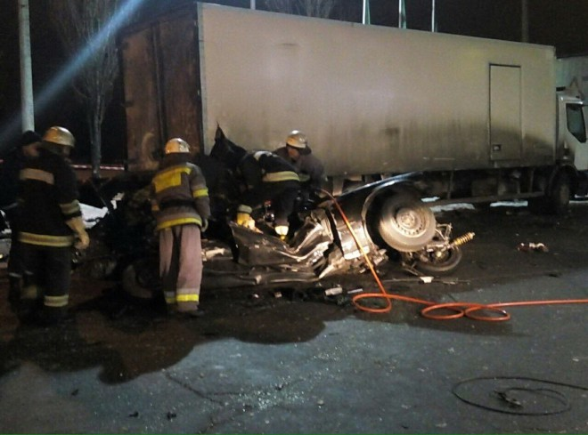 аварія на АЗС на проспекті Ватутіна на фото 1