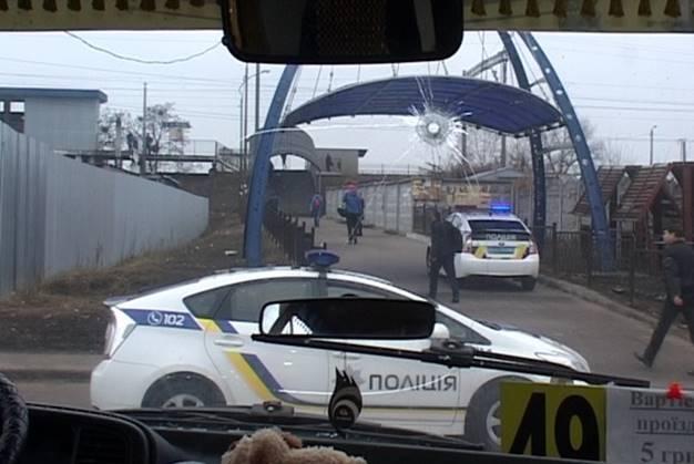похищение маршрутки в Киеве со стрельбой на фото 1