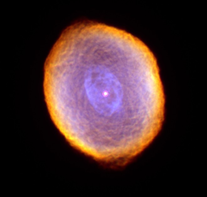 туманность в направлении созвездии Зайца, как заключительный этап эволюции звезды, похожей на Солнце