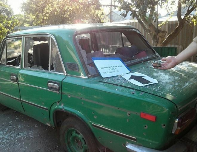 последствия обстрела жилого квартала Новолуганска на фото 1