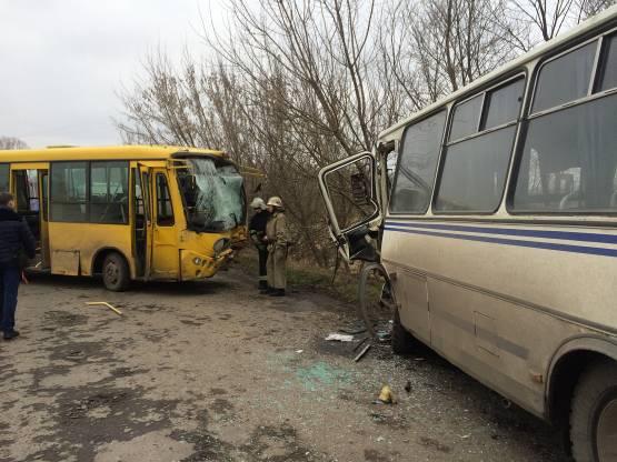 столкновение автобусов в селе Бендюга