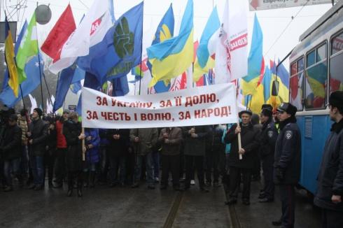 Оппозиция провела митинг в Виннице - фото