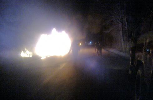 В Крыму загорелся экскурсионный автобус с пассажирами - фото