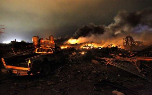 В Техасе на заводе прогремел мощный взрыв - фото